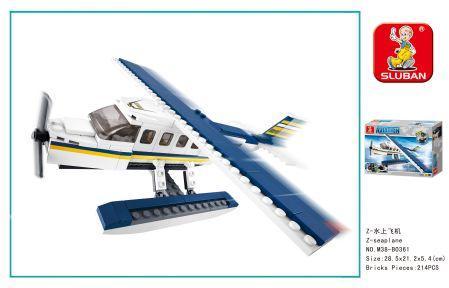 Конструктор SLUBAN Самолет 214 элементов конструктор металлический грузовик и трактор 345 элементов