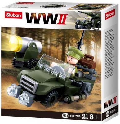 Конструктор SLUBAN Армия. Вторая Мировая Война 91 элемент конструктор флора 2 91 элемент