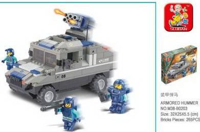 Конструктор SLUBAN Военный спецназ 265 элементов sluban конструктор военный спецназ бронетранспортёр с рлс sluban