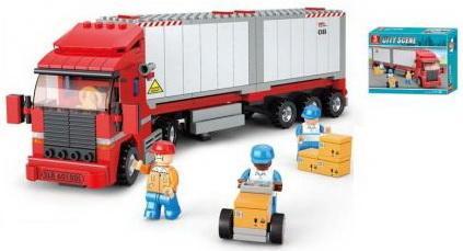 Конструктор SLUBAN Грузовик 345 элементов конструктор металлический грузовик и трактор 345 элементов
