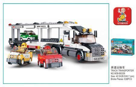 Конструктор SLUBAN Грузовик 638 элементов конструктор металлический грузовик и трактор 345 элементов
