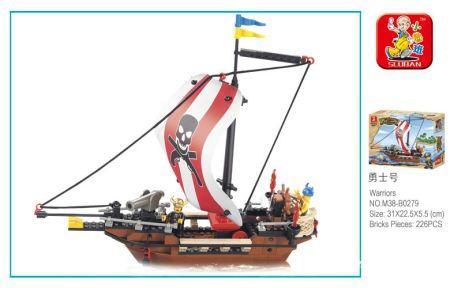 Конструктор SLUBAN Пираты 226 элементов конструктор пираты qixels