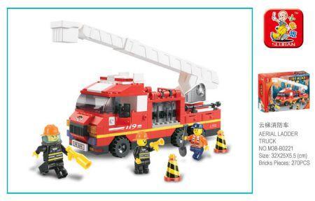 цена на Конструктор SLUBAN Пожарные спасатели 270 элементов