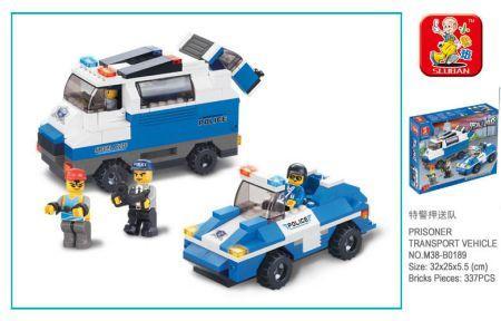 Купить Конструктор SLUBAN Полицейский спецназ 337 элементов, Пластмассовые конструкторы