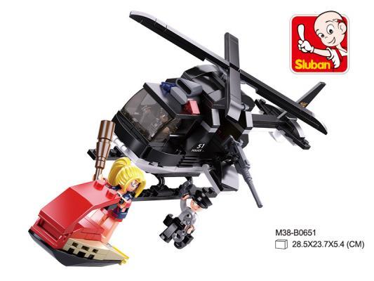 Конструктор SLUBAN Вертолёт, Водный скутер 221 элемент