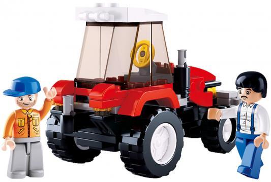 Конструктор SLUBAN Фермерский трактор 103 элемента конструктор металлический грузовик и трактор 345 элементов
