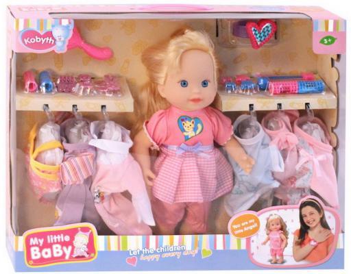 Купить Кукла, 7 сменных комплектов одежды и аксессуары для волос, расческа, браслетик, в/к 46*11*35, 5 см, Любимая, 33 см, пластик, Интерактивные куклы
