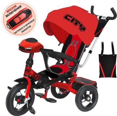 Купить Велосипед CITY трёхколёсный 12*/10* красный, Детские трехколесные велосипеды