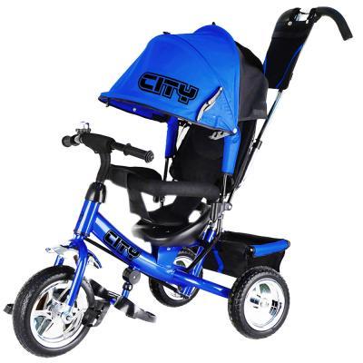 Велосипед-коляска CITY City JD7 10/8 синий цена