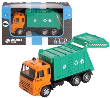 Мусоровоз Автопанорама 1200090 разноцветный мусоровоз лена 3х осный 23 см разноцветный 8812
