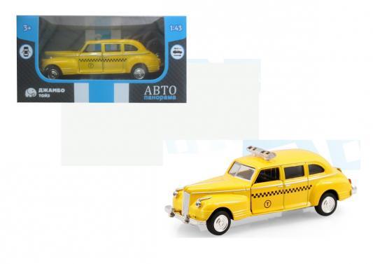 Инерционная машинка Автопанорама Такси 1:43 желтый машинка автопанорама такси 1200084 желтый