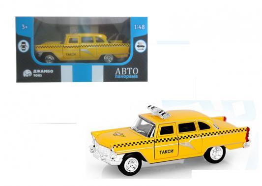 Инерционная машинка Автопанорама Такси 1:48 желтый машинка автопанорама такси 1200084 желтый