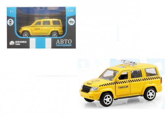 Инерционная машинка Автопанорама Такси 1:50 желтый машинка автопанорама такси 1200084 желтый