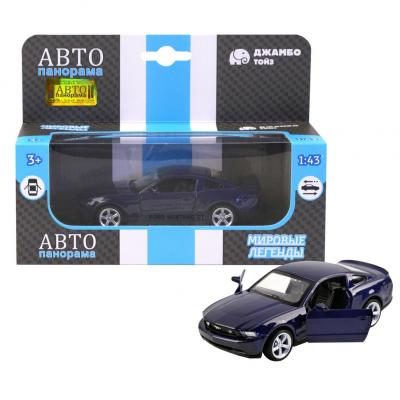 цена на Инерционная машинка Автопанорама Ford Mustang GT 1:43 синий