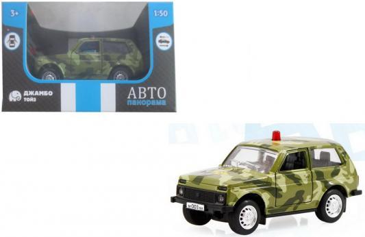 """цены на ТМ """"Автопанорама"""" Машинка металлическая 1:50, цвет хаки, инерция в/к 12*7*5,5 см  в интернет-магазинах"""