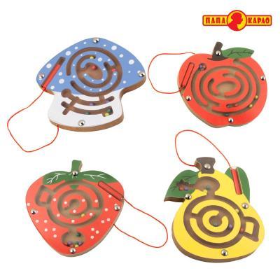 Купить Деревянная игрушка ПАПА КАРЛО Магнитный Лабиринт, Развивающие игрушки из дерева