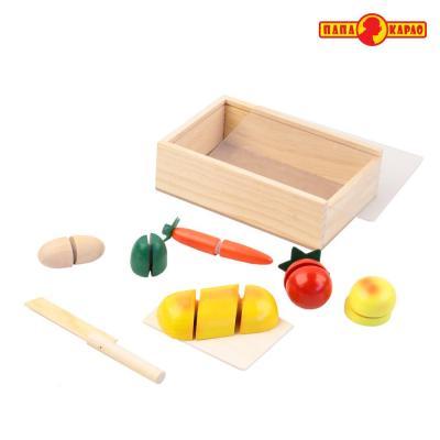 Купить Деревянная игрушка ПАПА КАРЛО Набор продуктов, Развивающие игрушки из дерева