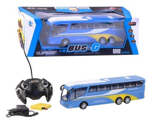 Купить Автобус на радиоуправлении SY cars Автобус пластик от 3 лет голубой, Радиоуправляемые игрушки