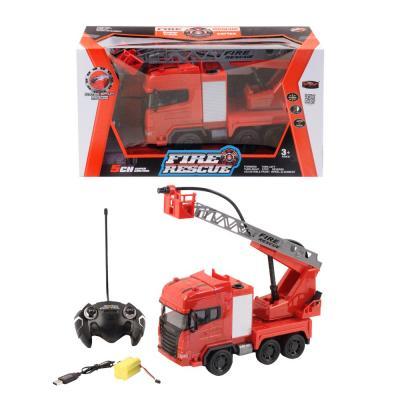 Фото - Пожарная машина на радиоуправлении SY cars Пожарная машинка пластик, металл от 3 лет красно-белый машина yako пожарная с подъёмником на радиоуправлении