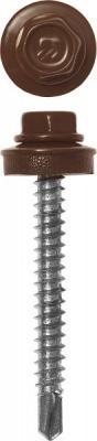 Саморез Зубр 4-300315-48-065-8017 65ммx4.8 мм 180шт раздвижной большой стеклянный обеденный стол кубика нагано 3 стекло стекло темно коричневое венге