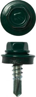 Саморезы СКМ кровельные, RAL 6005 зеленый насыщенный, 19 х 5.5 мм, 2 500 шт, для металлических конструкций, ЗУБР Профессионал цена