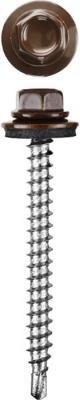 Саморезы СКД кровельные, RAL 8017 шоколадно-коричневый, 51 х 4.8 мм, 1 200 шт, для деревянной обрешетки, STAYER цена