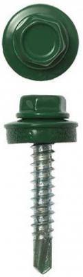 Саморезы СКМ кровельные, RAL 6005 зеленый насыщенный, 25 x 5.5 мм, 1 800 шт, для металлических конструкций, STAYER цена