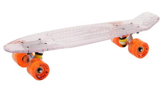 "Скейтборд прозрачный , размер 22"",*6"",, колеса: 60*45мм  78А, PU, ABEC-7"