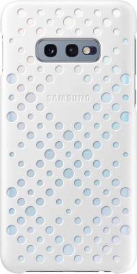 Картинка для Чехол (клип-кейс) Samsung для Samsung Galaxy S10e Pattern Cover белый/желтый (EF-XG970CWEGRU)