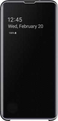 Чехол (флип-кейс) Samsung для Samsung Galaxy S10e Clear View Cover черный (EF-ZG970CBEGRU) чехол флип кейс samsung для samsung galaxy note 9 clear view standing cover фиолетовый ef zn960cvegru
