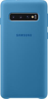 Чехол (клип-кейс) Samsung для Samsung Galaxy S10 Silicone Cover синий (EF-PG973TLEGRU) чехол клип кейс samsung для samsung galaxy note 9 silicone cover синий ef pn960tlegru