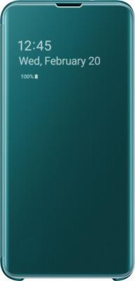Чехол (флип-кейс) Samsung для Samsung Galaxy S10e Clear View Cover зеленый (EF-ZG970CGEGRU)