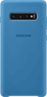 Чехол (клип-кейс) Samsung для Samsung Galaxy S10+ Silicone Cover синий (EF-PG975TLEGRU) чехол клип кейс samsung для samsung galaxy note 9 silicone cover синий ef pn960tlegru