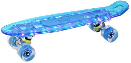 """Скейтборд """",Зенит"""", прозрачный, с функцией Bluetooth, дека: PP с LED подсветкой, размер 22"""",*6"""",, колеса: 60*45мм  78А, PU, ABEC-7"""