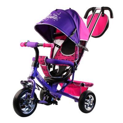 """Велосипед-коляска Barbie (Mattel) Велосипед-коляска 10""""/8"""" фиолетовый недорго, оригинальная цена"""