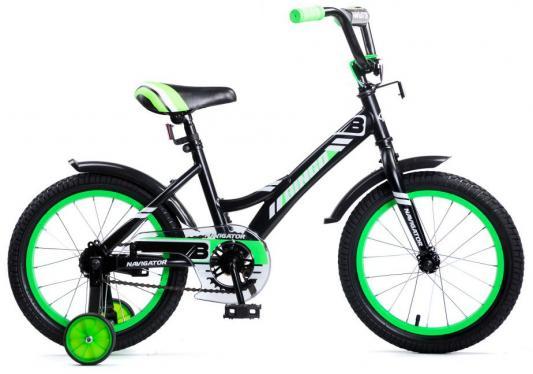 "Велосипед Navigator Bingo 16"" черно-зеленый ВМ16137 велосипед navigator супермен 16"