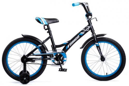 Велосипед Navigator Bingo 18 черный-голубой ВМ18098 бинокль navigator 12х25 черный