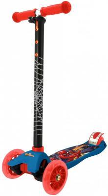 Купить Самокат MARVEL Spider-Man 120/80 мм разноцветный, Трехколесные самокаты для детей