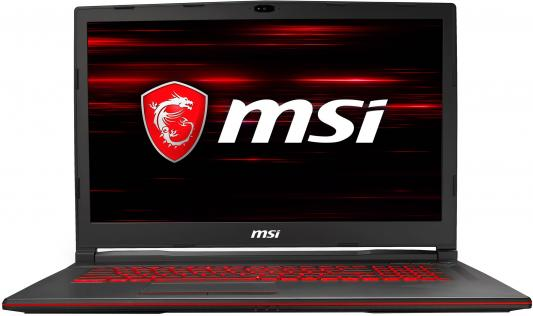 """MSI GL73 8RC-448XRU 17.3""""(1920x1080 (матовый))/Intel Core i7 8750H(2.2Ghz)/8192Mb/1000+128SSDGb/noDVD/Ext:nVidia GeForce GTX1050(4096Mb)/Cam/BT/WiFi/51WHr/war 1y/2.7kg/black/Dos"""