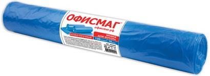 Фото - Мешки для мусора 120 л, синие, в рулоне 10 шт., ПВД, 40 мкм, 70х110 см (±5%), особо прочные, ОФИСМАГ, 602929 мешки для мусора 60 л синие в рулоне 20 шт особо прочные пвд 30 мкм 60х70 см laima 601382