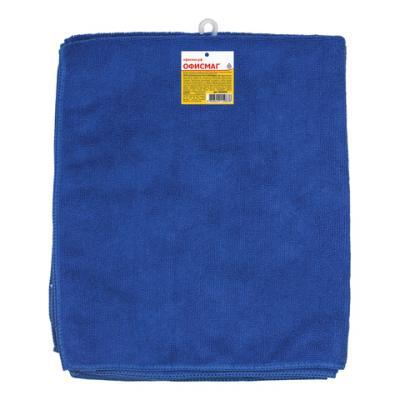 Тряпки для мытья пола, КОМПЛЕКТ 3 шт., микрофибра, 50х60 см, синие, ОФИСМАГ, 603945