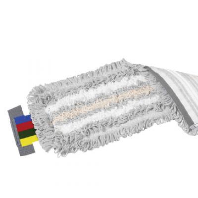 Насадка МОП плоская для швабры/держателя 40 см, уши (УВ), полиэстер/волокно/вискоза, VILEDA УльтраСпидТрио, 524820 насадка моп кентукки для швабры ленточная хлопок полиэстер длина лент 40 см 400 г vileda 100776