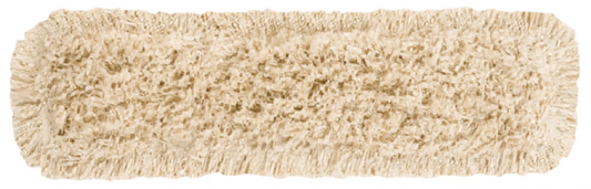 Насадка МОП плоская 60 см для швабры-рамки, карманы, хлопок, VILEDA ДастМоп, 118102 насадка для паровой швабры vileda стим