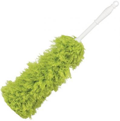 метелка для пыли boomjoy dust mop 68 86 см Сметка-метелка для смахивания пыли ЛАЙМА, 58 см, зеленая, 603618