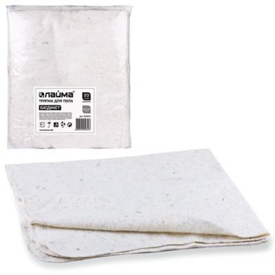 Тряпки для мытья пола 80х100 см, комплект 20 шт., 190 г/м2, ХПП, 80% хлопок, 20% полиэфир, Бюджет ЛАЙМА, 600842 тряпки чистящие bagi 20 х 20 см