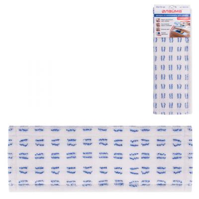 Насадка МОП плоская для швабры/держателя 40 см, карманы (ТИП К), микрофибра/абразив, ЛАЙМА, 603120 насадка для моп лайма 40 см кремовый