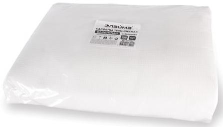 Салфетки вафельные отбеленные, 40х40 см, комплект 100 шт., плотность 120 г/м2, ЛАЙМА, 604762 недорого