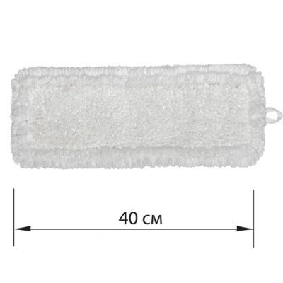 Фото - Насадка МОП плоская для швабры/держателя 40 см, У/К (уши/карманы), петлевая микрофибра, ЛАЙМА EXPERT насадка моп плоская для швабры держателя 40 см карманы к ворсистая микрофибра ворс 2 см лайма 603119