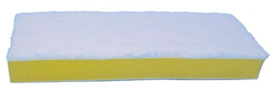 Фото - Насадка МОП для швабры самоотжимной Бабочка 603607, спонж/микрофибра 26 см, на липучке, ЛЮБАША, 603608 насадка моп для швабры самоотжимной скручивающейся 603600 микрофибра 30см лайма 603601
