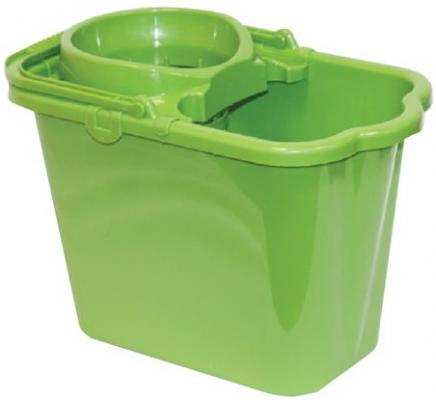 цена на Ведро 9,5 л, с отжимом (сетчатый), пластиковое, цвет зеленый, (моп 602584, -585), IDEA, М 2421